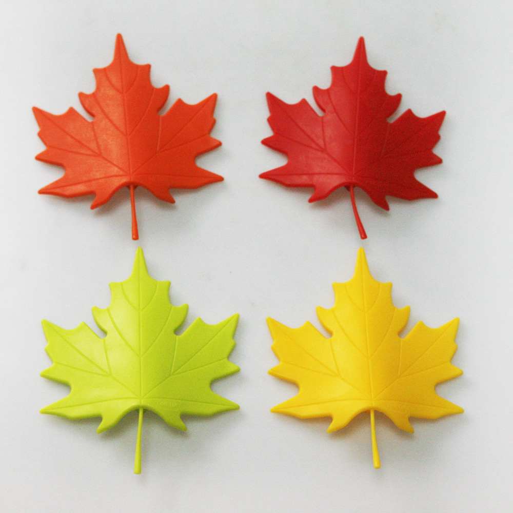 4Pcs/Lot Plastic ABS Maple Leaf Style For Home Decor Finger Safety Doorstop Stopper Door Stop