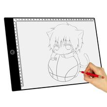 3 Type Dimming Modes A4 Digital Drawing Graphic Tablet LED Tracing Copy Board Painting for Children Kids