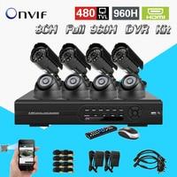 TEATE 8CH volledige D1 dvr kit 8 STKS 480TVL CCTV Camera video Home Security CCTV surveillance Systeem HDMI USB 3G WIFI CK-115
