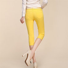 Autumn Summer Fashion Pants Women Candy Colored Pencil Pants Brand Quality Slim Sexy Stretch Zipper Skinny Jeans Cotton Capris