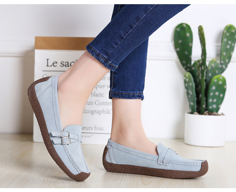 HX 7732-2019 Spring Autumn New Arrival Genuine Leather Women Flats Shoe-19