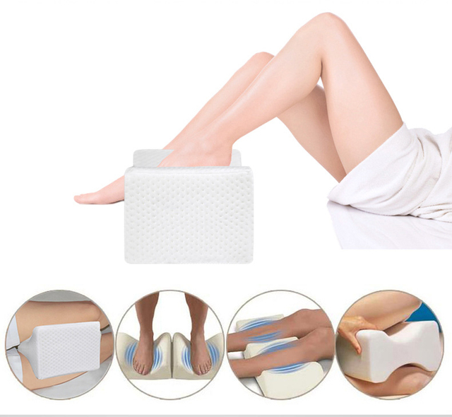 Memory Foam Knee Therapy Pillow,Orthopedic Knee Pillow for Sciatica Relief, Back Pain, Leg Pain, Pregnancy, Hip and Joint Pain
