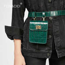 Fanny Pack belt bag animal print alligator waist bag women luxury brand leather 2018 fall winter hight quality wholesale - DISCOUNT ITEM  19% OFF All Category