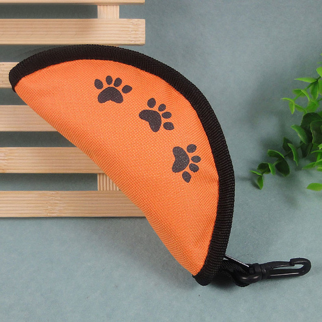 Pet Dog Cat Collapsible Foldable Travel Camping Food Water Feeder Bowl Dish Oxford Fabric Dog Feeder (Random Color )