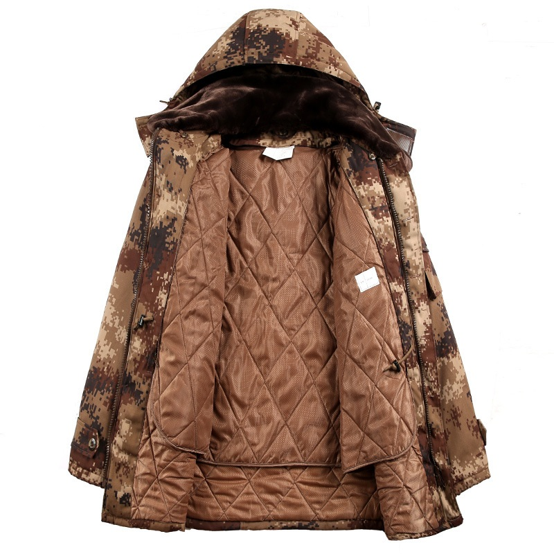Men Camouflage Hunting Coat Jacket Men Outdoor Hiking Windstopper Winter Insulated Warm Camping Army Tactical Camouflage