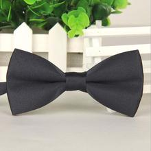 High End The British Men's Plain Bowtie Polyester Pre Tied Wedding Tuxedo Bow Tie Necktie Accessory