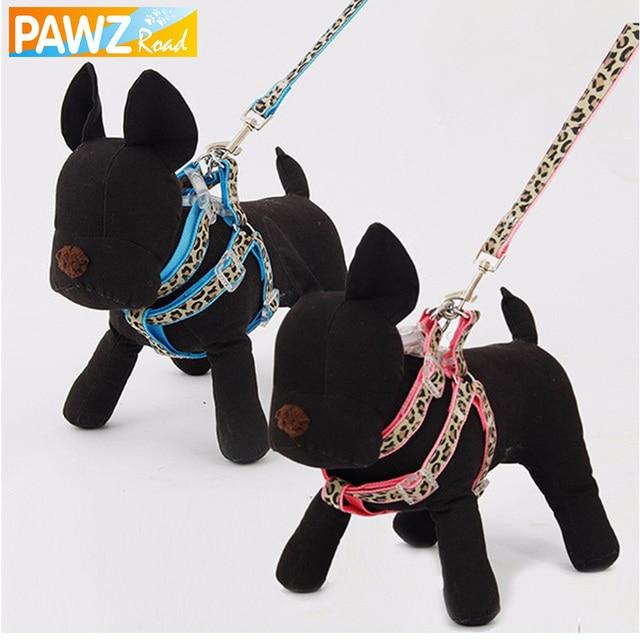 658974b0018b Nave Para Mascotas Perro correa Ajustable de Seguridad doméstica Caminar  Paseo Cuerda Azul Raya Del Leopardo