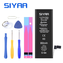 Оригинальный SIYAA для iPhone 6 Батарея 1810 мАч iPhone6 Замена Batteria высокое Ёмкость бесплатная инструменты Розничная посылка бесплатные подарки