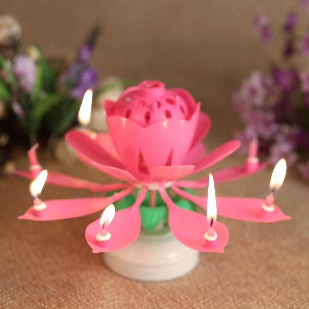 Цветок свеча музыкальная