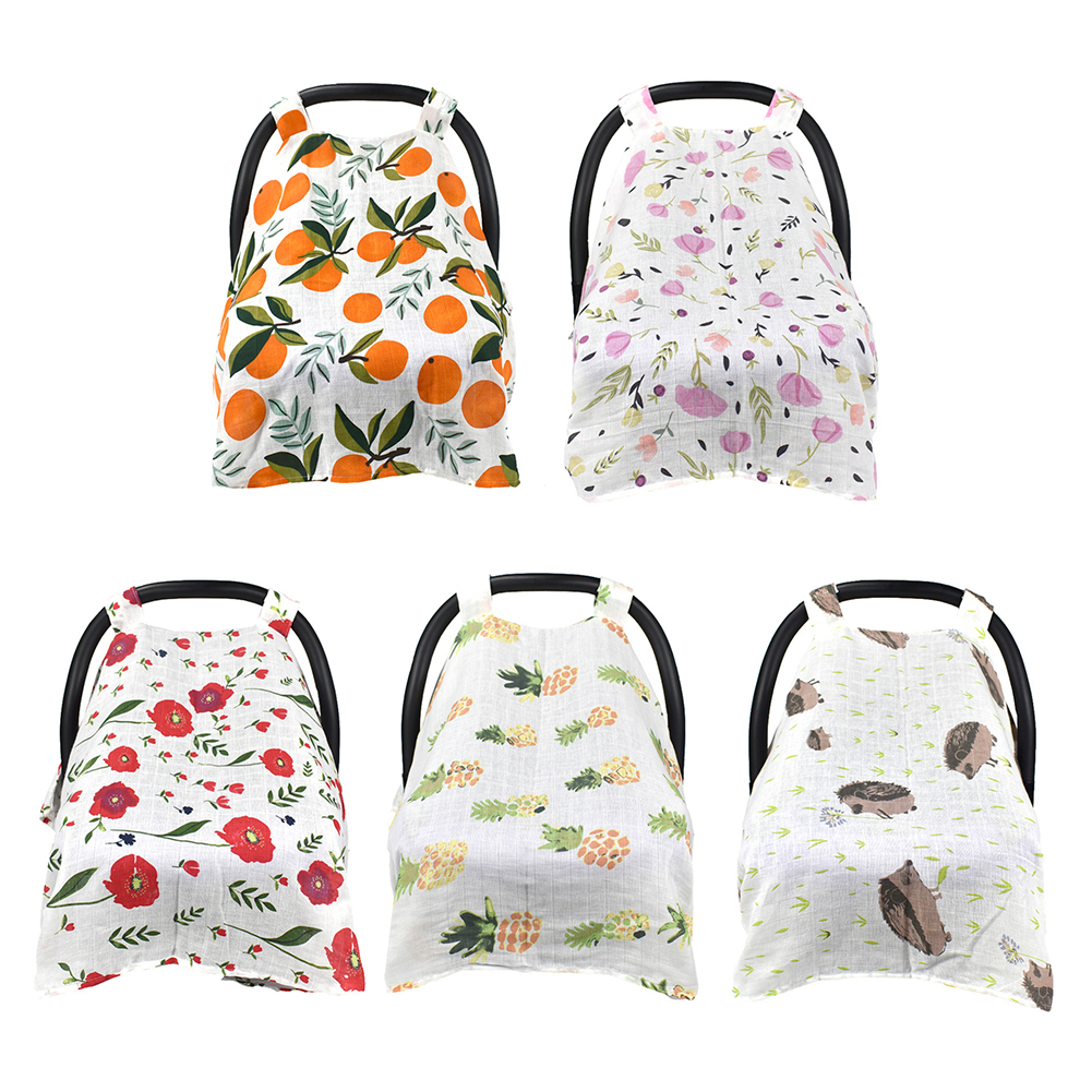 Multi-function parasol Sunshade baby safety seat Muslin cover Breathable cotton windproof sun protector car covers accessories