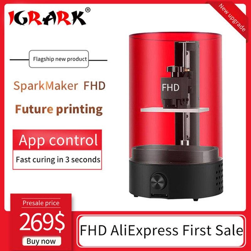 Sparkmaker 3D imprimante FHD Uv résine imprimante 405um haute précision bureau SLA DLP LCD 3D imprimante pour bijoux Impresora 3d