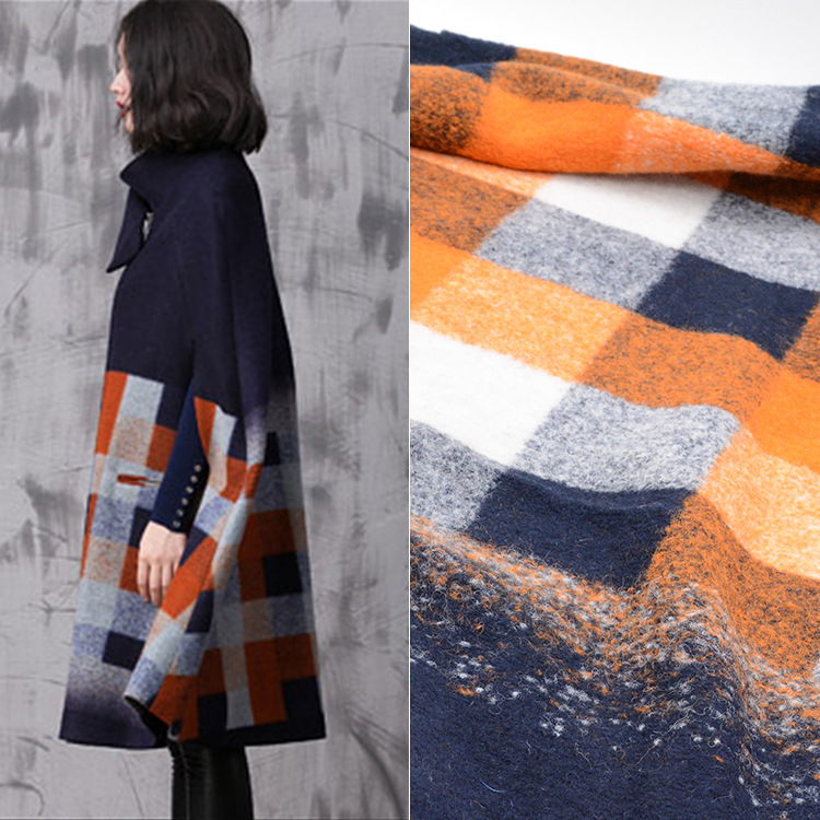 Factory direct knitting jacquard wool fabric autumn and winter fashion coat fabric spot