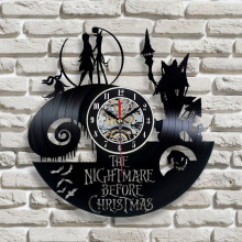 2018 New Vinyl Record Wall Clock Jack and Sally Classic Clocks Quartz Mechanism Horloge Reloj