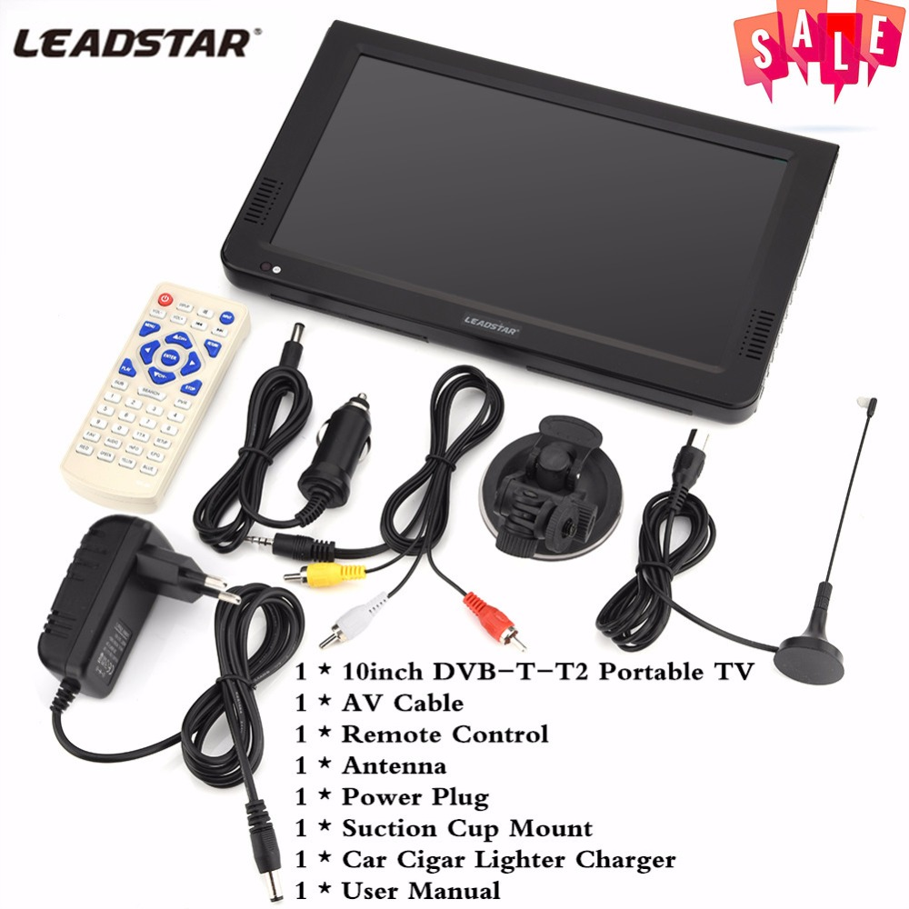 Upgrade HD TV 10 Inch Digital And Analog TV Receiver And SD Card And USB Audio And Video Playback Portable DVB-T2 Television 160 190km h dvb t2 car tv tuner mpeg4 sd hd 1080p dvb t2 digital tv receiver for russia