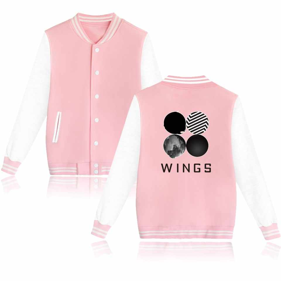 42d75b249418f Detail Feedback Questions about Fashion BTS Wings Baseball Jacket Women  Hoodies Men Winter Cotton jacket Wings Kpop Sweatshirt Baseball Jackets Men  Clothes ...