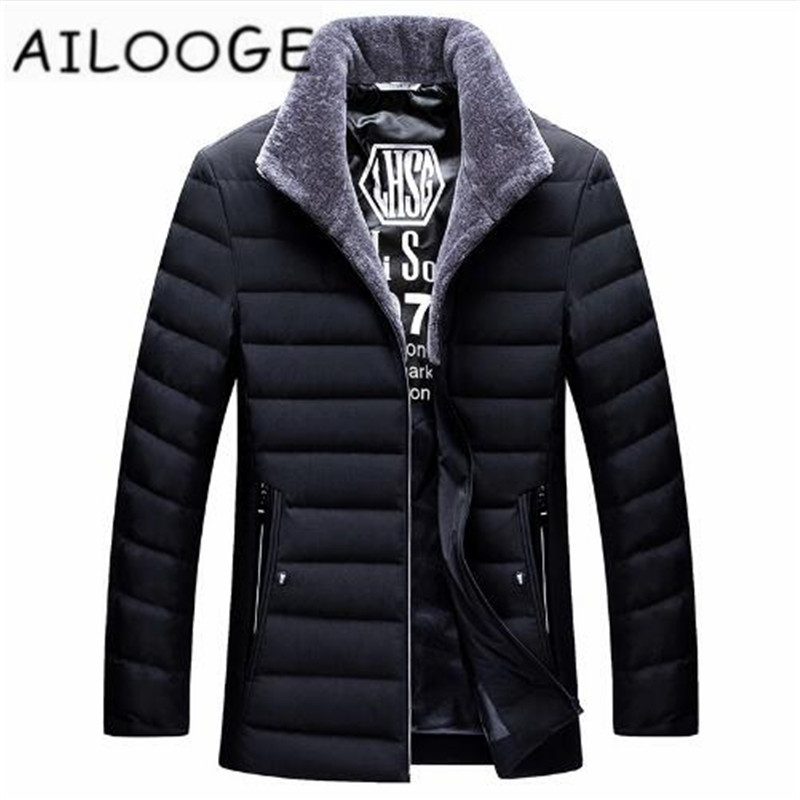 New style 2018 autumn winter   down     coat   men stand collar white duck   down   jacket male outerwear plus size M - 4XL