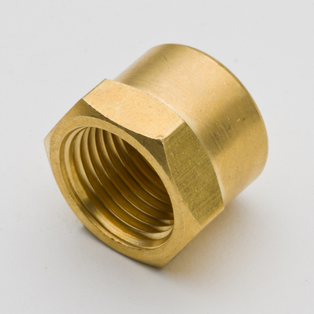 50 pièces raccord de tuyau en laiton tête hexagonale extrémité Cap1/8