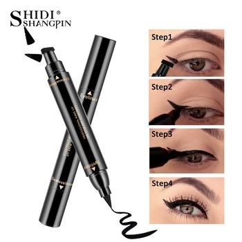 SHIDISHANGPIN Eyeliner ołówek wodoodporny długopis precyzyjny długotrwały 36H Eyeliner gładki narzędzia do makijazu tanie i dobre opinie Naturalne Szybkie szybkie suche Długotrwała Łatwe do noszenia Pigment China Black 1 Pc Long-lasting Easy to Wear Fast Quick Dry Natural