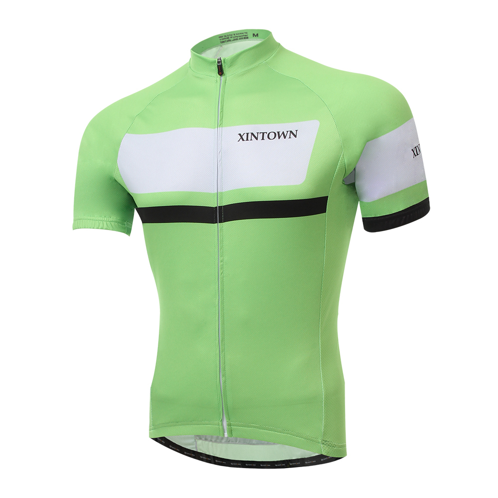 Ropa ciclismo hombre sets XINTOWN bicicletas skinsuit Cycling jersey short sleeve bib Suite Breathable Quick Dry Green