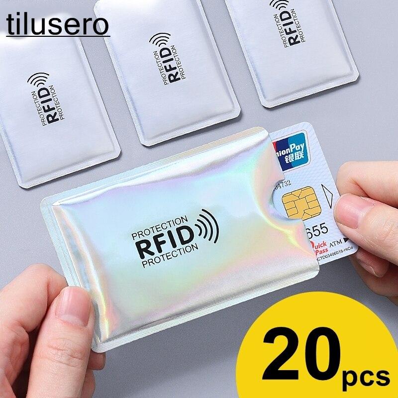 Anti Rfid Wallet Blocking Reader Lock Bank Card Holder Id Bank Card Case Protection Metal Credit Card Holder Aluminium Z008