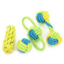 Pet Products Dog Toys Dogs Chewing Teeth Clean Outdoor Traning Fun Playing Green Rope Ball Toy For Large Small Dog цены