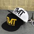 Alta qualidade tmt courtside snapback chapéu plana boné de beisebol maré homens e mulheres osso hop dança chapéu ajustável esporte marca