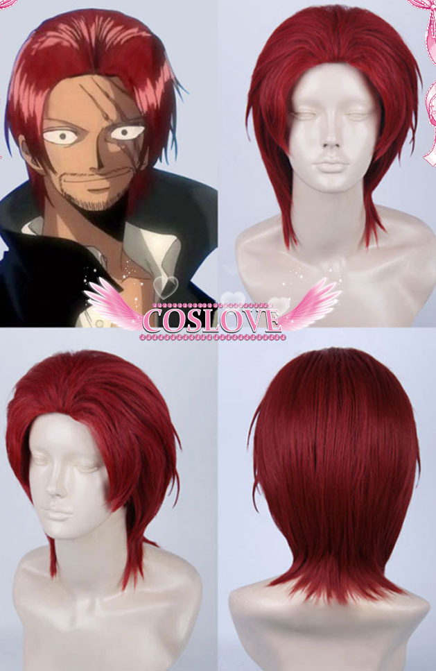 one piece shanks short red cosplay wig cos wigs costume halloween party hair wig anime in synthetic wigs from hair extensions wigs on aliexpresscom - Red Wigs For Halloween