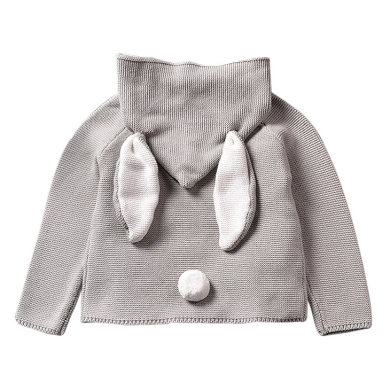 2017 brand Autumn New Baby Boys girl hoodies Sweaters 3D Rabbit Cotton Pullover Kids Girls Knitted Sweater Girls Boys Cardigan