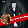 Casaco de inverno dos homens Novos Chegada de Moda Homens do Estilo do Inverno Trincheira Algodão Mais Grosso Outwear Manter Quente Casaco Jaqueta Ao Ar Livre