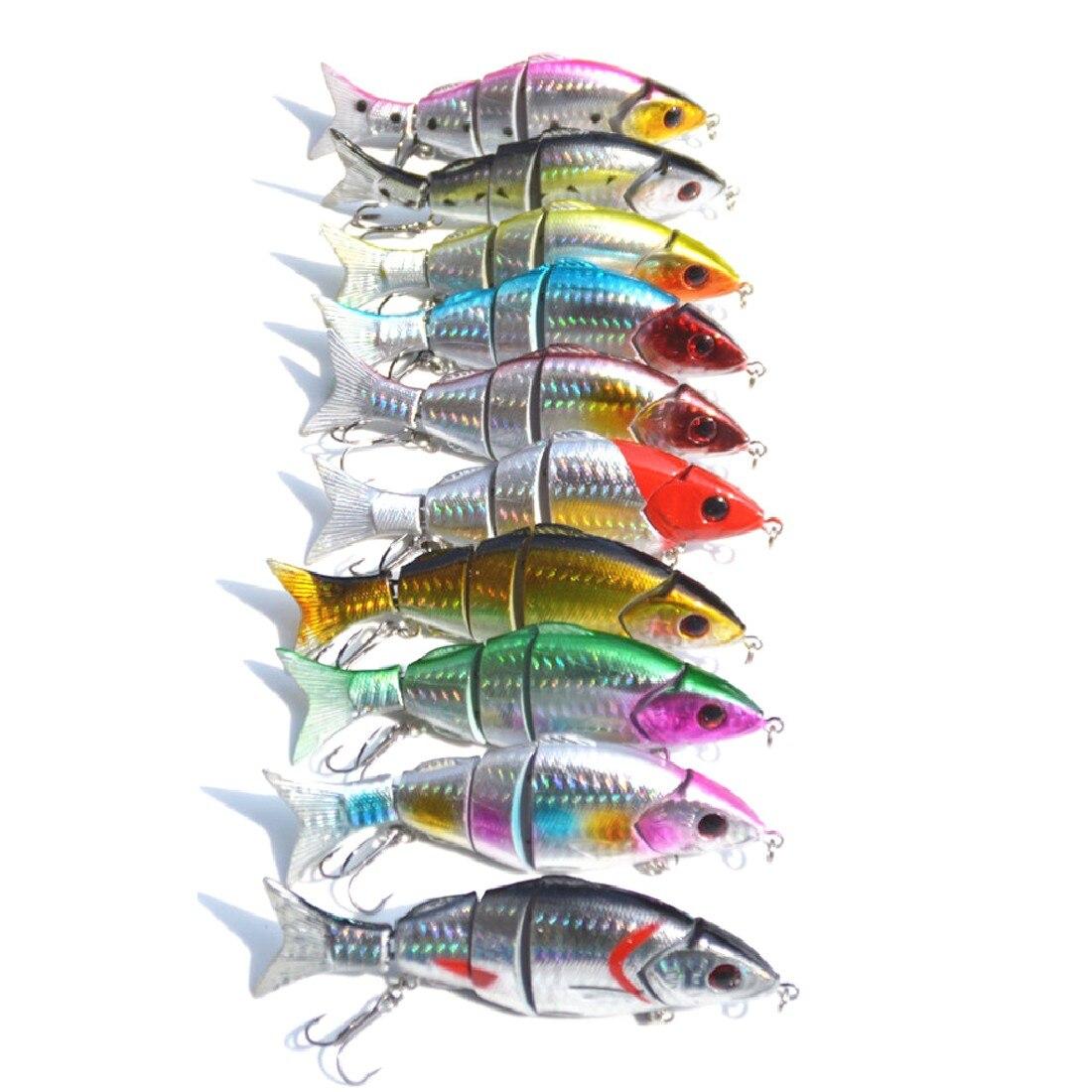 Рыба Инструмент развлечения приманки 10 шт. пять Ложные приманки рыболовные снасти крючок 12 см/21 г