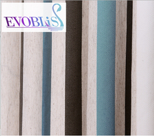 Mediterranean blue green striped modern font b curtains b font for living room blackout font b