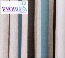 Mediterranean blue green striped modern curtains for living room blackout curtains for bed room gordijnen voor de woonkamer
