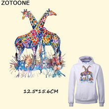 ZOTOONE Colorful Giraffe Patches Iron on Transfer for Clothes Washable DIY Decoration T-shirt Dresses Bag Appliques E