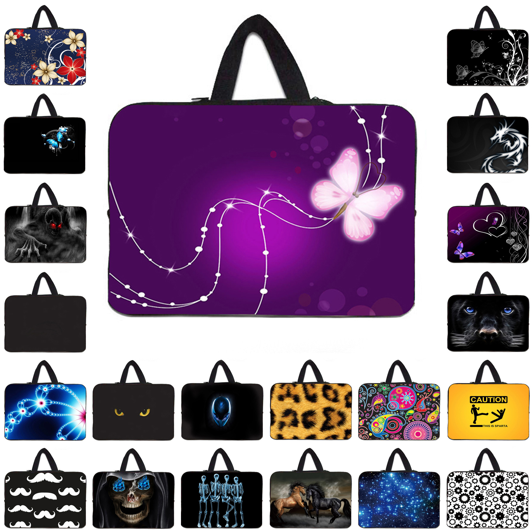 Soft Fashion 10 12 13 14 15.4 15.6 17 inch Notebook Laptops Neoprene Inner Sleeve Case Bags Tablet 10.1 11.6 Mini PC Protect Bag