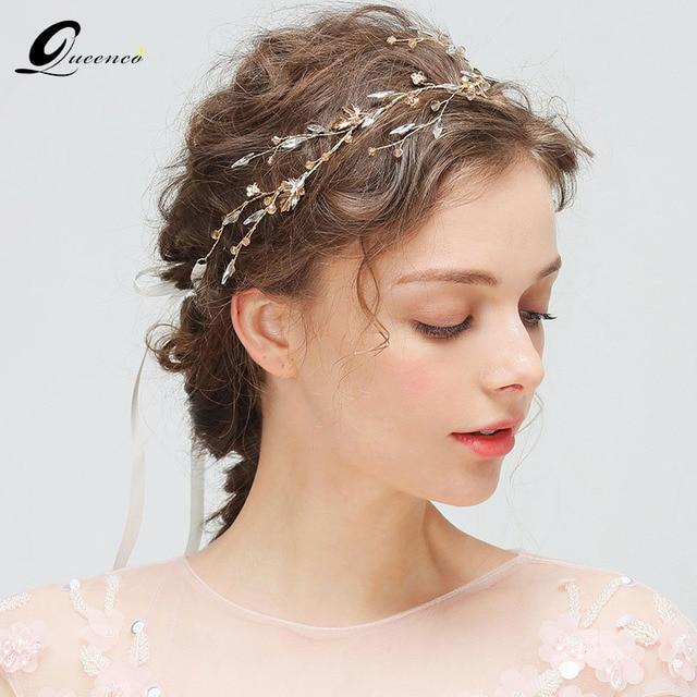 Luxury S Headband Gold Leaves Wedding Hair Accessories Vine Bridal Jewelry Crystal Ornament Headpiece