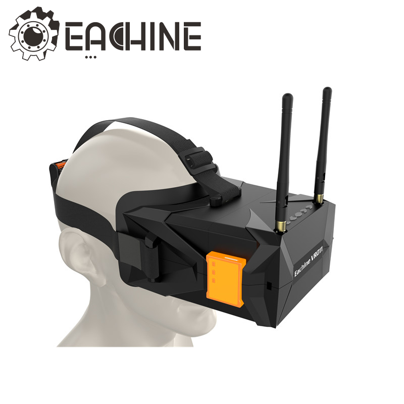 Eachine VR011 5 Inches 800x480 Diversity Raceband 5.8G 40CH FPV Goggles For FPV Racer Drone RC Models Toys fpvok fpv 5 8 ghz 40ch rd40 raceband dual diversity receiver with a v and power cables