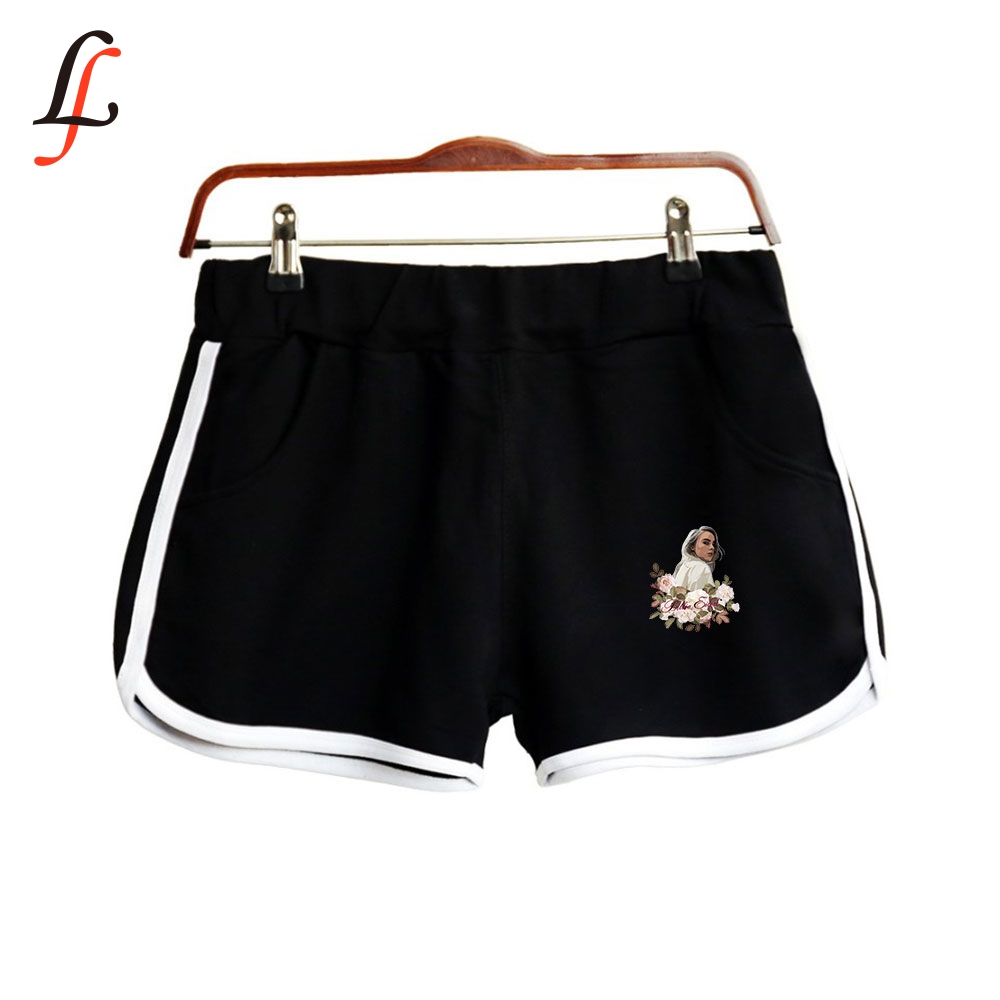 Casual Elastic Waist Shortpant Billie Eilis Harajuku Modis Fitness Fashion Shorts Women's All-match Loose Solid Soft Short Femme
