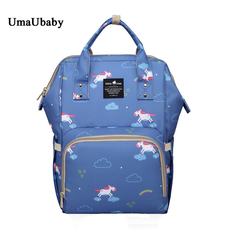 Mommy Diaper Bags Baby Bag Cartoon Capacity 35L Polyester Fashion Travel Backpack Multi-function Insulation Stroller Cover Bag