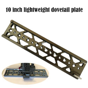 """Image 1 - 10"""" dovetail plate 15mm lightweight plate for Tilta 15mm baseplate BMPCC 4K 6K SONY A7S3 A7S2 A7 Camera Cage use"""