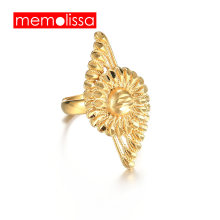 MeMolissa Big Rings for Women Men,Gold Color Ethiopian Wedding Ring/Arab Items/Africa Jewelry/Nigeria/Middle East(China)