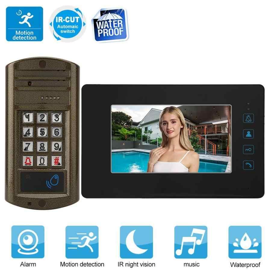 110-240 V 7 дюймовым HD монитором под управлением Экран проводной дверной звонок видео инфракрасный домофонный дверной звонок 2019