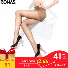 BONAS 20D Sexy Breathable Tights Women High waist Sun Protection Pantyhose T crotch Nylon Tights Stretchy Slim Stockings Female(China)