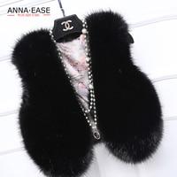 New Women 4XL 5XL Fake Fur Vest Faux Rabbit Fur Fox Fur Waistcoat White Black Gray Vest Coat V Neck Jacket