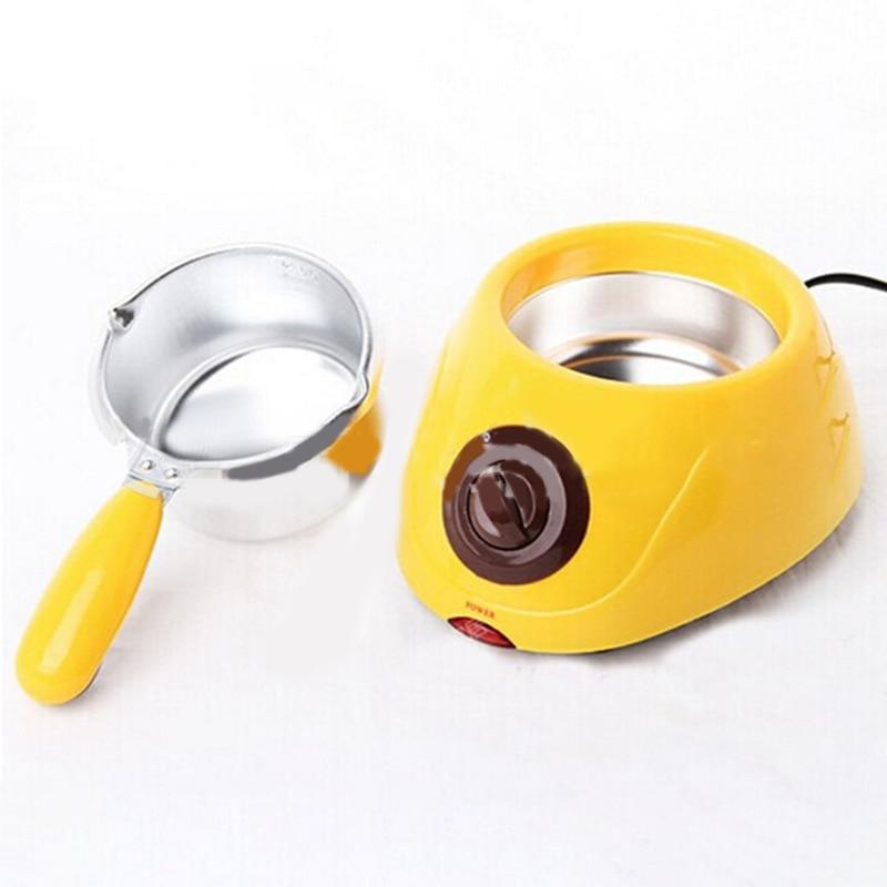 220V Chocolate Candy Melting Pot Electric Chocolate Fountain Fondue Singer Chocolate Melt Pot melter Machine DIY Kitchen Tool*