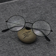 Round Spectacle Reading Glasses For Women Men Metal Frame Glasses Plain Mirror Presbyopia Male Female Reading Glass(China)
