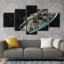 Gopherwood Wall Art Canvas Painting HD Prints 5 Panel Star Wars Movie Picture for Living Room Modern Artwork Home Decor Unframed