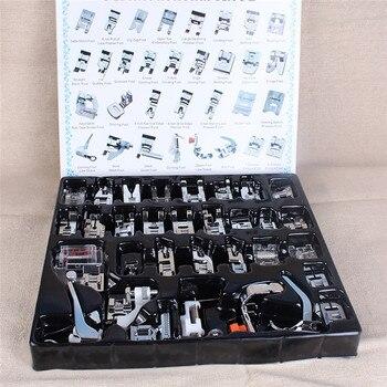 8/11/16/32/62 pcs Mini Trançar o Ponto Cego Da Máquina de Costura Doméstica Calcador Darning Pé pés Kit Set Para O Irmão Cantor Janome