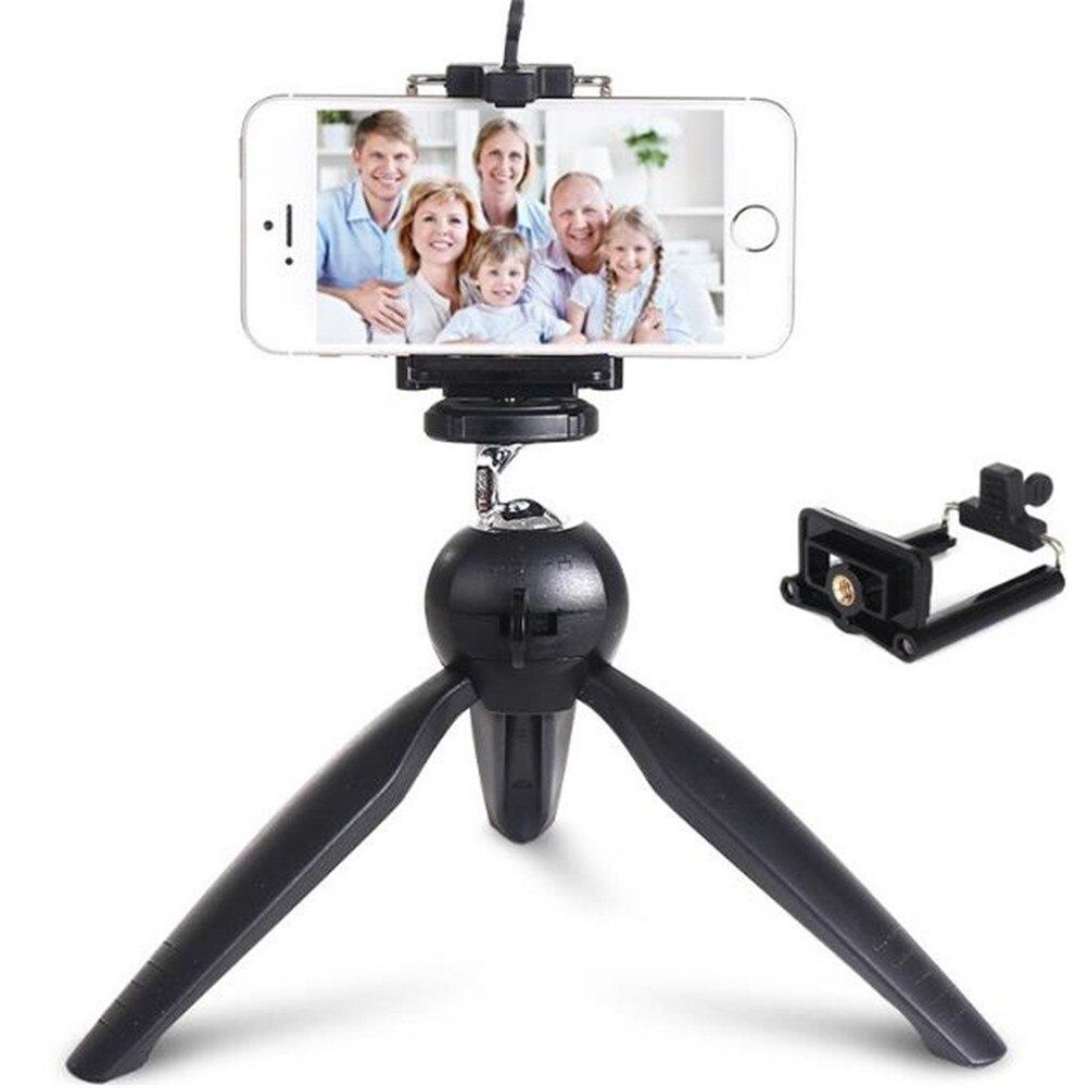 New Mini Tripod Tabletop Smartphone Mount Clip Holder Stand Detachable Ballhead for iPhone X/8/7 Plus Huawei Xiaomi