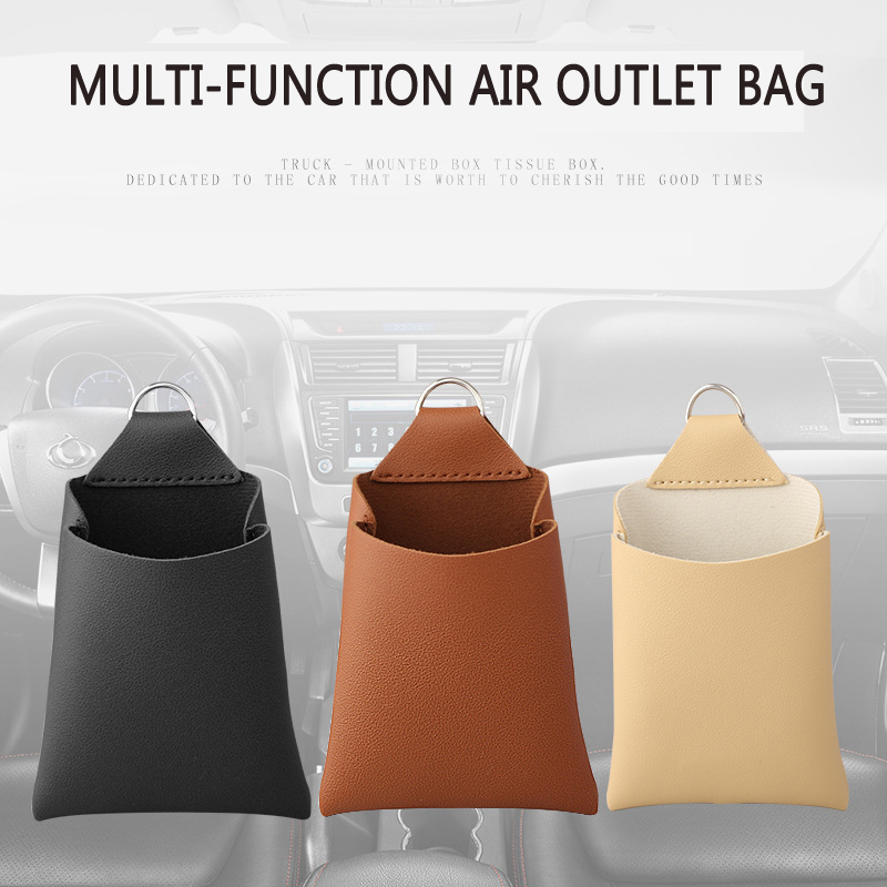 Image 2 - New Arrival Car Outlet Vent Tidy Storage Box With Charging Hole PU Leather Coin Bag Case Pocket Organizer Hanging Holder Pouch-in Stowing Tidying from Automobiles & Motorcycles