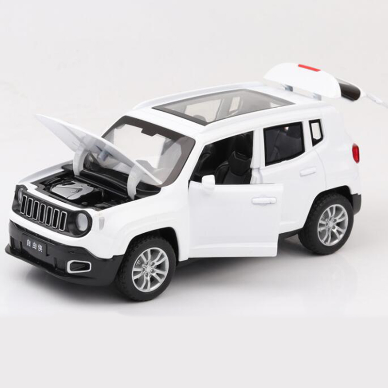 1/32 Jeep Renegade SUV Diecast Model Car With Sound&light Pull Back Model Car Toy Cars Kids Toys Collection